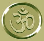 Aum Symbol in a Gold Circle